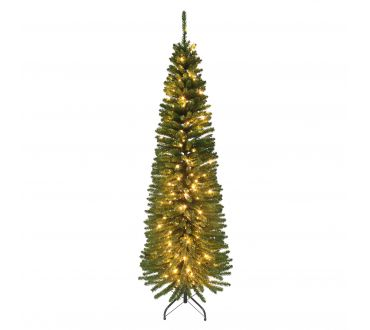 Sapin lumineux - CYPRES - 180 cm - 555 Branches - 200 LED doré- Vert