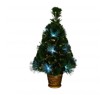 Sapin lumineux - LOS ANGELES - 60 cm - 55 Branches - 24 LED - Vert