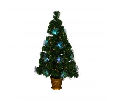 Sapin lumineux - LOS ANGELES - 90 cm - 80 Branches - 33 LED - Vert