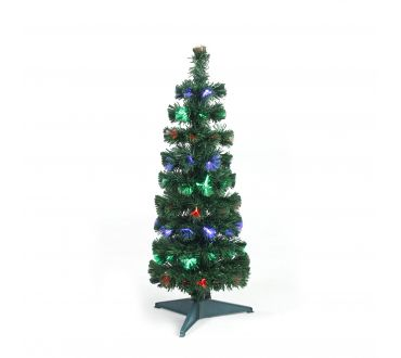 Sapin lumineux - CYPRES - 90 cm - 80 Branches - 19 LED multicolore - Vert