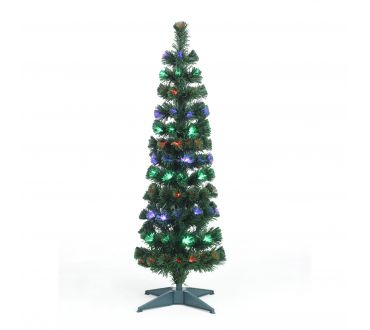 Sapin lumineux - CYPRES - 120 cm - 110 Branches - 35 LED multicolore- Vert