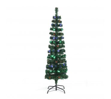 Sapin lumineux - CYPRES - 150 cm - 160 Branches - 50 LED multicolore- Vert