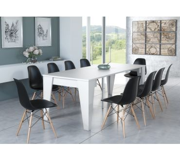 Table extensible - Blanc - 2,4m - 10 prs.